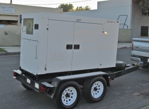 Remote Possibilities now owns a 85 Kw. three phase genset that is available in Southern California for emergency power restoration or planned power outages. This MQ Whisperquiet genset can supply 3 phase 208 VAC power up to 166 amps per leg and has a 91 gallon on board fuel supply. It can also be configured for 480 VAC. Discounted rates to broadcasters and other professional users.